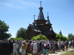 Всехсвятсткий скит Святогорской Лавры отметил свой второй престольный праздник
