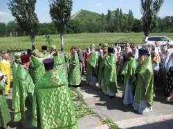 Архирейское Богослужение в престольный праздник храма прп. Амвросия Оптинского г. Доброполья.