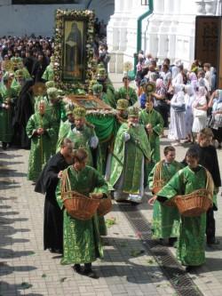 Торжества в Святогорской лавре в день памяти прп.Иоанна Затворника.